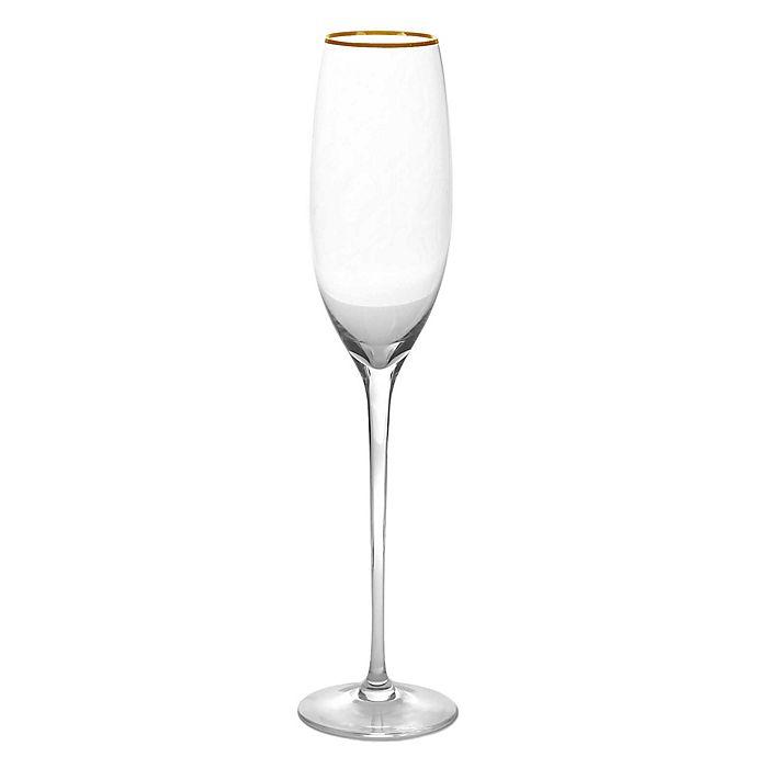 Olivia Oliver Madison Gold Champagne Flutes Set Of 4 Bed Bath Beyond