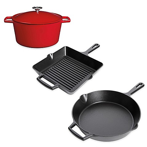 Image Of Artisanal Kitchen Supply™ Pre Seasoned Cast Iron Open Stock  Cookware
