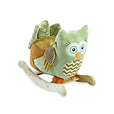 image of Rockabye™ Owliver Green Owl Chair Musical Rocker
