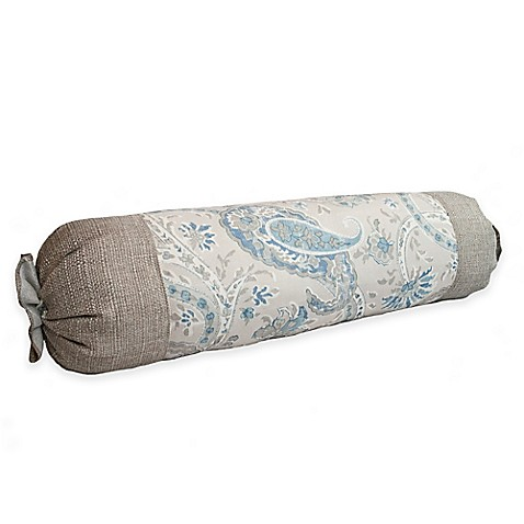 Bed Bath And Beyond Blue Throw Pillows : Sherry Kline Serenity Neckroll Throw Pillow in Beige/Blue - Bed Bath & Beyond