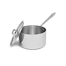 image of All-Clad Stainless Steel 4-Quart Covered Saucepan