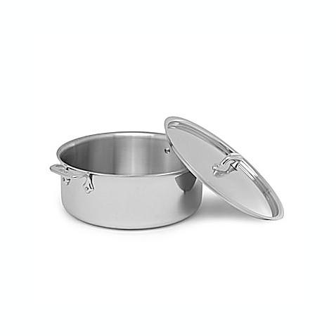 allclad stainless steel 6 qt covered stock pot