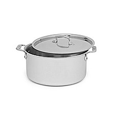 image of All-Clad Stainless Steel 8-Quart Covered Stock Pot
