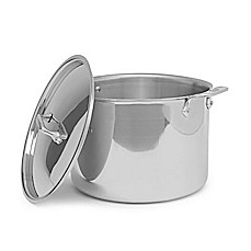 image of All-Clad Stainless Steel 12 qt. Covered Stock Pot