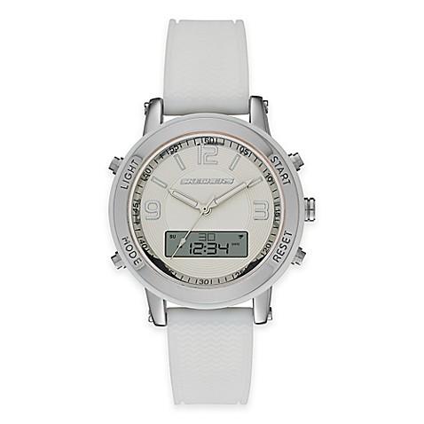 Buy Skechers 174 Ladies 38mm Analog Digital Watch In Silver