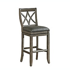 image of American Heritage Hadley Swivel Stool in Light Grey
