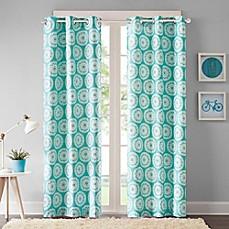 Intelligent Design Torino Grommet Top Window Curtain Panel Pair