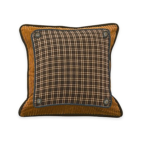 Brown Corduroy Throw Pillow : Buy HiEnd Accents Ocala Plaid, Corduroy & Denim Square Throw Pillow in Brown from Bed Bath & Beyond