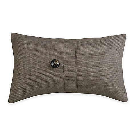 hiend accents small oblong throw pillow in grey bed bath