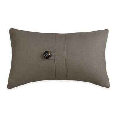 HiEnd Accents Small Oblong Throw Pillow in Grey - Bed Bath & Beyond