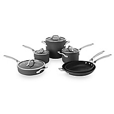 image of Calphalon® Signature™ Nonstick 10-Piece Cookware Set and Open Stock