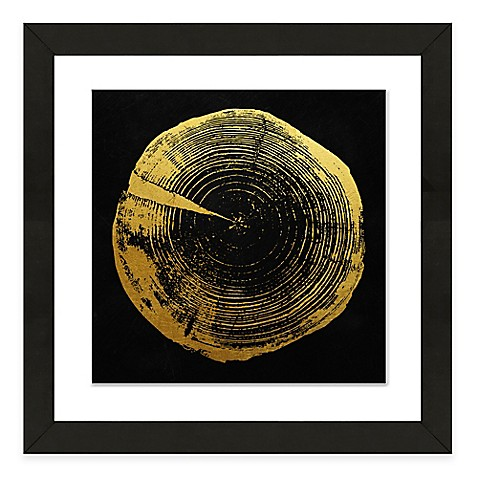 Buy framed giclee tree ring print wall art i from bed bath for Where to buy framed art