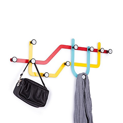 Umbra® 10-Hook Subway Rack in Multicolor