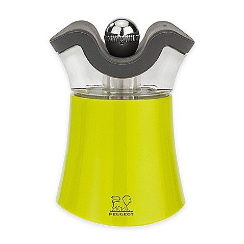 buy peugeot pep 39 s salt and pepper mill in green from bed bath beyond. Black Bedroom Furniture Sets. Home Design Ideas