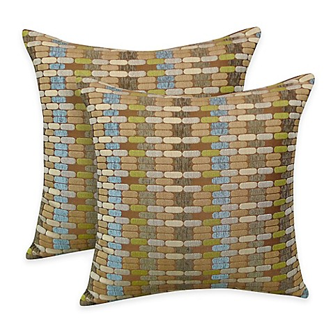 Arlee Home Fashions Othello Jacquard Geometric Square Throw Pillow Set Of 2 Bed Bath Beyond
