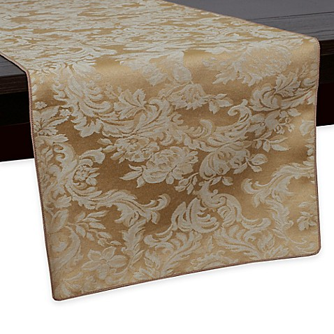 Buy Miranda Damask 72 Inch Table Runner In Dijon From Bed