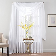 Smart SheerTM Insulated Linen Voile Sheer Window Curtain Panel And Valance