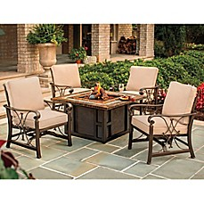 image of Agio Seville 5-Piece Fire Pit Chat Set
