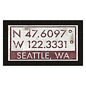 Seattle Wall Art seattle coordinates framed giclée wall art - bed bath & beyond