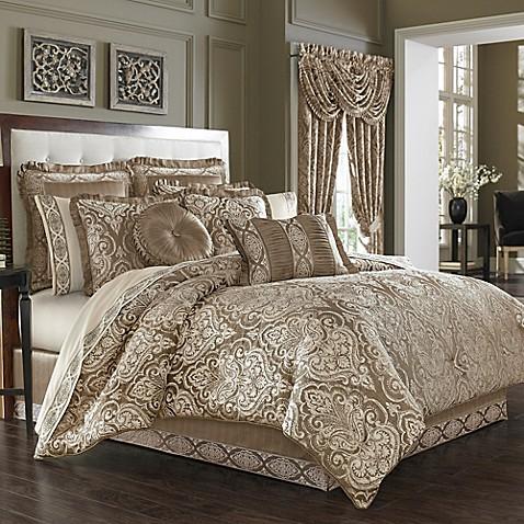 J Queen New York Stafford Comforter Set In Mocha Bed