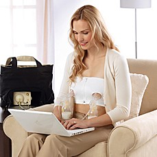 image of Medela® Easy Expression™ Bustier Pumping Bra in White