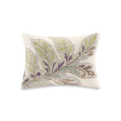 Echo Design Throw Pillows : Buy Echo Design Ishana Oblong Throw Pillow in Ivory from Bed Bath & Beyond