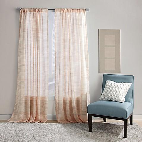 Dawn Stripe Rod Pocket Sheer Window Curtain Panel Bed