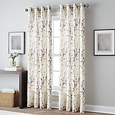 image of Botanical Grommet Top Window Curtain Panel