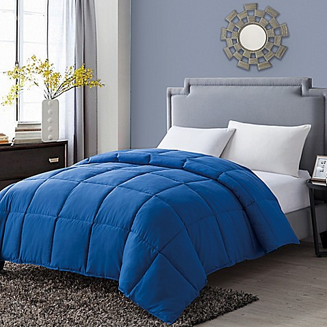 Buy vcny paradise reversible down alternative full queen comforter in blue from bed bath beyond for Home design alternative comforter