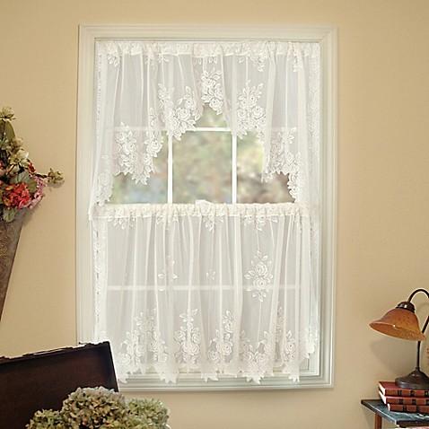 Heritage Lace 174 Tea Rose Window Curtain Tier Bed Bath