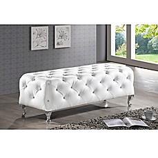 image of baxton studio stella crystal tufted modern bench - Baxton Studio Bed