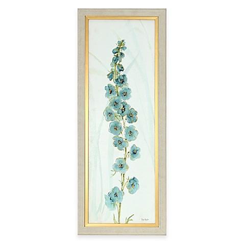 Framed Blue Flower Panel Wall Art - Bed Bath & Beyond
