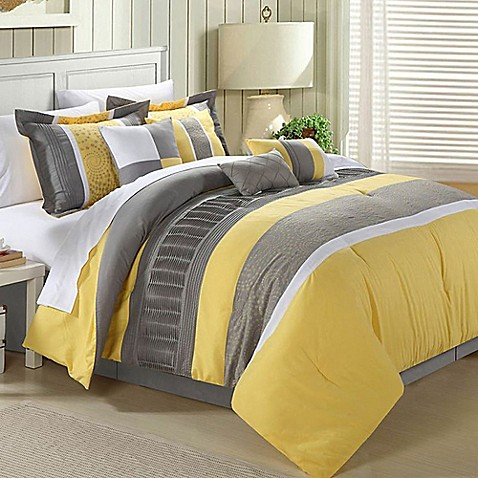 Chic Home Elijah 8-Piece Comforter Set - Bed Bath & Beyond