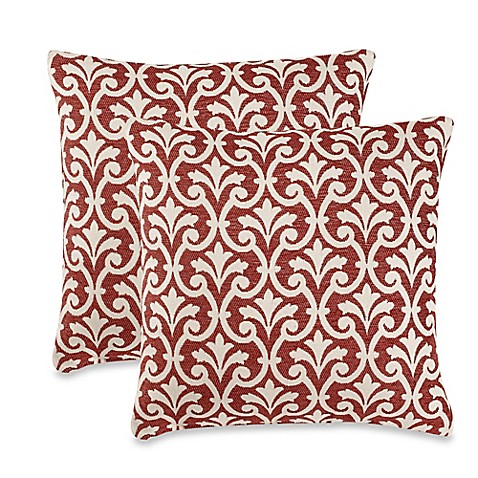 Red Throw Pillows For Bed : Amber Red Throw Pillows (Set of 2) - Bed Bath & Beyond