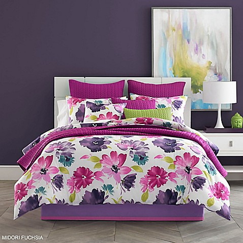 Perfect J By J. Queen New York Midori Comforter Set In Fuchsia