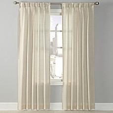 Splendor Grommet Glide Pinch Pleat Sheer Window Curtain Panel