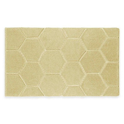 Laura Ashley® Pearl Honeycomb Bath Rug - Bed Bath & Beyond