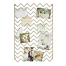 image of Umbra® Zig Zag Photo Collage Display in Gold