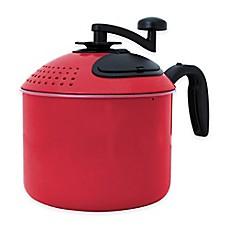 pasta pot with strainer lid bed bath beyond. Black Bedroom Furniture Sets. Home Design Ideas