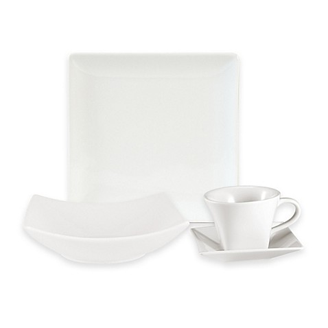 Everyday Whiteu0026reg; by Fitz and Floydu0026reg; Hard Square Dinnerware Collection  sc 1 st  Bed Bath u0026 Beyond : white porcelain square dinnerware - pezcame.com