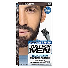 image of Just For Men® Mustache and Beard Brush-In Color Gel in Real Black