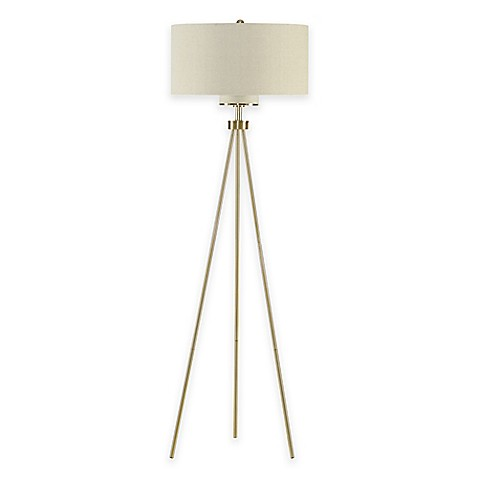 Ink Ivy Pacific Tripod Floor Lamp In Gold Bed Bath Amp Beyond