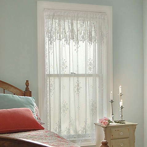 Heritage Lace 174 Tea Rose Rod Pocket Window Curtain Panel