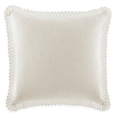 image of laura ashley quilted european pillow sham with crocheted trim