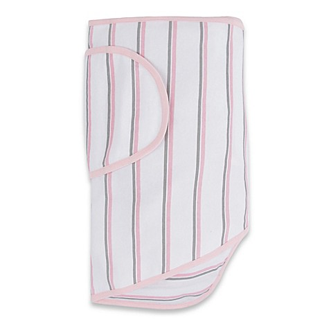 Miracle Blanket® White with Pink and Grey Stripes
