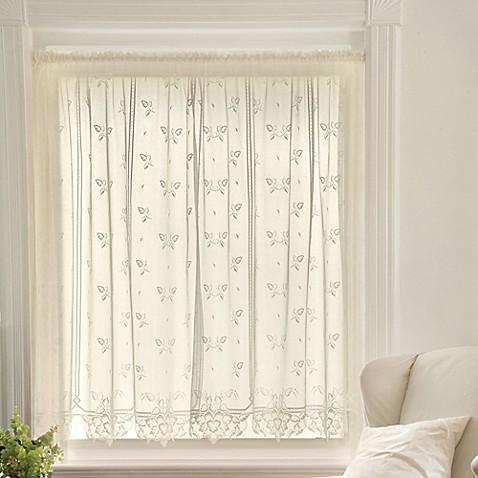 Heritage Lace 174 Heirloom 45 Inch Sheer Window Curtain Tier