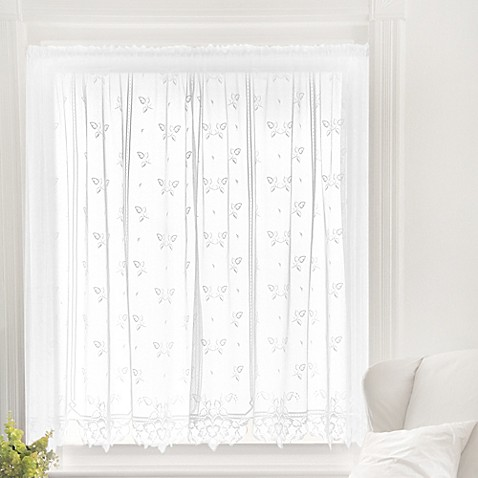 buy heritage lace heirloom 45 inch sheer window curtain. Black Bedroom Furniture Sets. Home Design Ideas