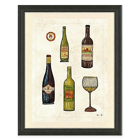 Buy framed gicl e wine bottles ii print wall art from bed for Wall decor wine bottles