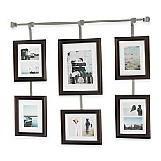 image of wall solutions 10 piece rod and frame set in pewter