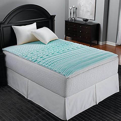 Sleep Zone 5 Zone Foam Egg Crate Mattress Topper In Blue